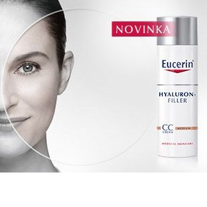 Inovace Eucerin Hyaluron-Filler CC krém vyplňuje vrásky a zároveň tónuje pleť
