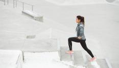 Chůze do schodů pro dokonalé pozadí
