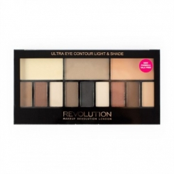 Makeup Revolution London Paletka očních stínů Ultra Eye Contour Light & Shade