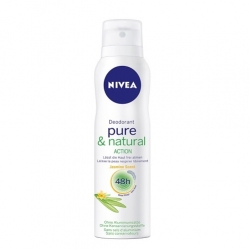 Antiperspiranty, deodoranty Nivea Sprej deodorant Pure & Natural Action