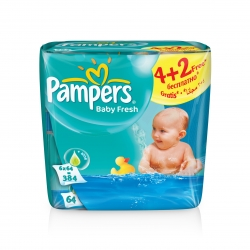 Pampers Vlh�en� ubrousky Baby Fresh