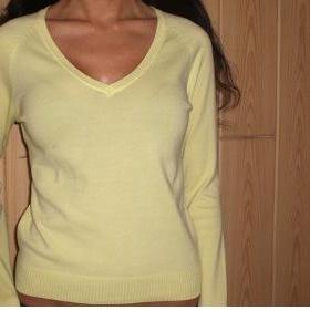 Žlutý svetřík Zara S - foto č. 1