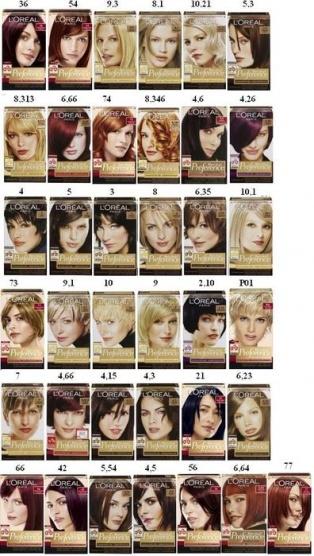 garnier barvy na vlasy vzorník