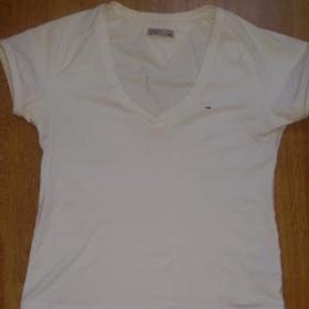 Bílé tričko Tommy Hilfiger - denim - foto č. 1