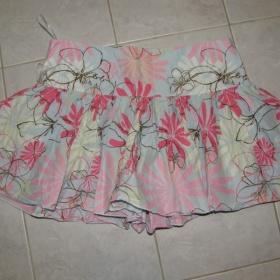 Modro-růžová sukně značky Jins Blue  (anglie) - foto č. 1
