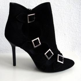 Černé semišové boty-38 - foto č. 1