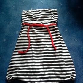 Černobílé šaty amisu - foto č. 1