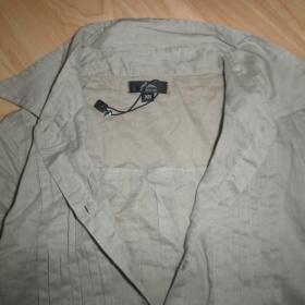 Béžovošedá dlouhá košile zn. Ann Christine XS-S - foto č. 1