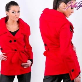 Flaušový kabátek podšitý na jaro/podzim barevný - foto č. 1