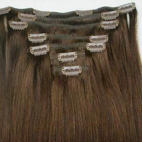 Clip-in vlasy, 100 gramů, 50 cm, Remy, 100 % lidské, 8 pásů - foto č. 1