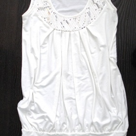 Bílý top/minišaty-M - foto č. 1