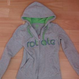 Cropp mikina šedo-zelená s elastanem - foto č. 1