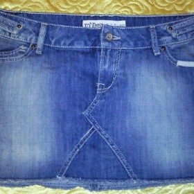 Modrá minisukňa Zara - foto č. 1