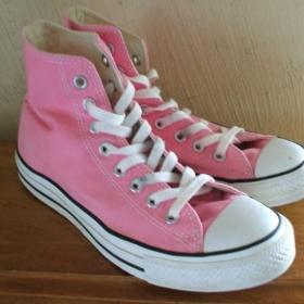 Boty Converse růžové kotníkové - foto č. 1