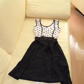 Šaty Fishbone růžovo černé - foto č. 1