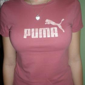 Růžové tričko Puma - foto č. 1
