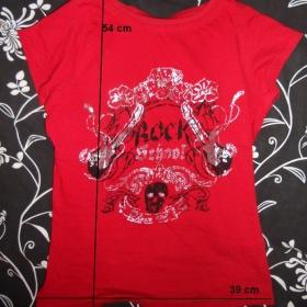 Červené tričko Forever18 - foto č. 1