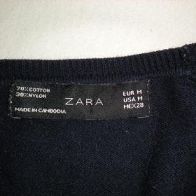 Tmavě modrý propínací svetřík Zara
