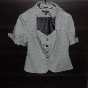 Kárované sako s krátkym rukávom značka Philip Russel - foto č. 1