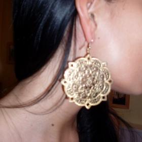 Zlaté a stříbrné bižu orientální náušnice Tally Weijl - foto č. 1