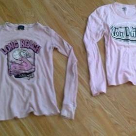 2krát růžové tričko VON Dutch - foto č. 1