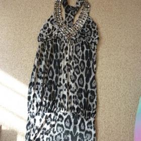 Leopardí tunika s kamínky Best-Emilie - foto č. 1