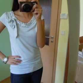 Světlounce modro šedé tričko s krátkým rukávem H&M - foto č. 1