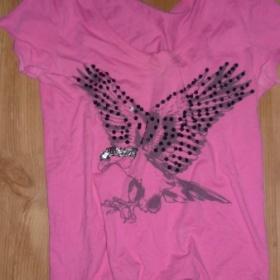 Růžové tričko s Orlem zn.Amisu - foto č. 1