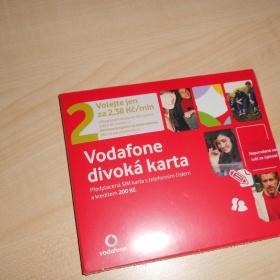 Předplacená Vodafone karta s kreditem - foto č. 1