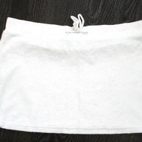 Bílá froté sukně-M - foto č. 1