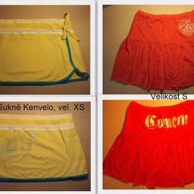 Žlutá sukně Kenvelo a červená Redial Diamond - foto č. 1