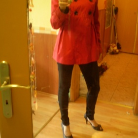 Červený kabátek Promod - foto č. 1