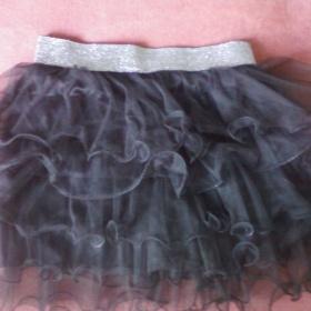 Černá tylová sukně se stříbrnou gumou - foto č. 1