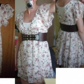 Šifon šaty s květinami  Japan style - foto č. 1