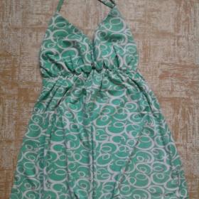 Zeleno-b�l� top za krk - foto �. 1