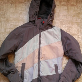 Khaki bunda s pruhy značky SAM - foto č. 1