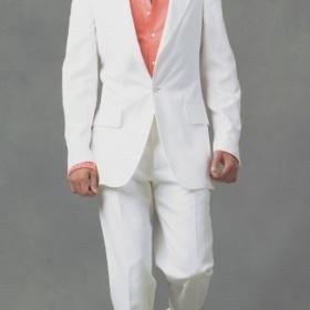 Pánský oblek-bílý - foto č. 1