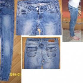 Drbané džíny tally Weijl XS světle modré slimky - foto č. 1