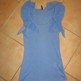 Modrý top s volánky Amisu - foto č. 1