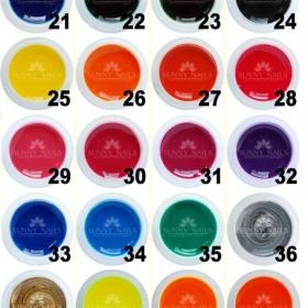 Barevné UV Gely - sada - foto č. 1
