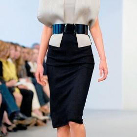 Tmavá pouzdrová sukně - foto č. 1