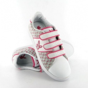 Bílo-růžové tenisky playboy na suchý zip - foto č. 1