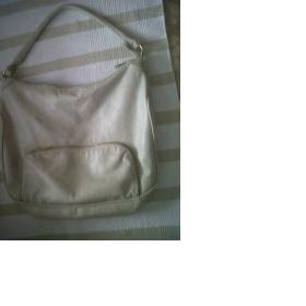Šedá kabelka HM se zlatým zipem a kapsou při straně - foto č. 1