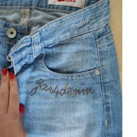 Světle modré  bokové džíny zn. GAS - foto č. 1