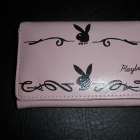 Růžová peněženka s motivem Playboy - foto č. 1