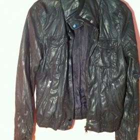 Černá kožená bunda/Bershka - foto č. 1
