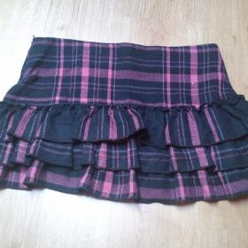 Teplá černo růžová mini sukně - foto č. 1