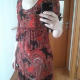 Tunika anebo šaty (Monsoon) červená barva - foto č. 1