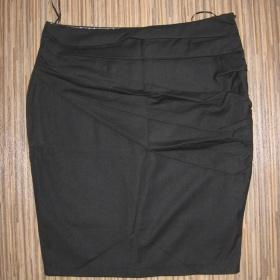 Černá elegantní boková pouzdrová sukně Amisu - foto č. 1