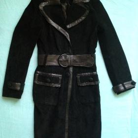 Černý kabát s páskem-Orsay-36 - foto č. 1